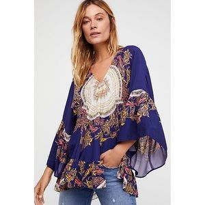 free people • sunset dreams tunic in navy